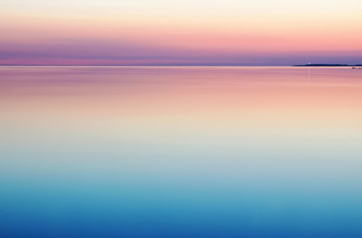 picture of a sunset on a beach