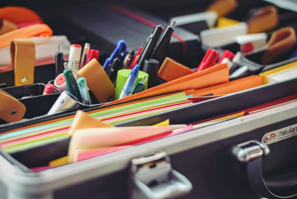a collection of stationery